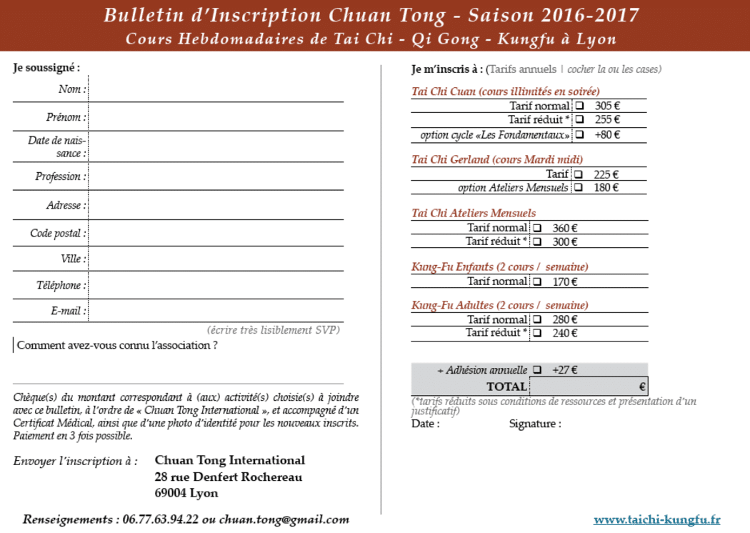 Bulletin-Inscription-Tai-Chi-Kungfu-Lyon-2016-2017