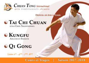 Tai Chi Lyon Kungfu Wushu enfants Cours Plaquette 2018 2019