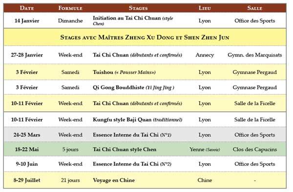 Stage avec Maître Zheng Xu Dong 2018 Tai Chi Chuan Tuishou Shen Zhen Jun